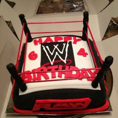 Wrestling cake for my boys birthday party!