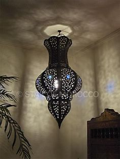 Tall Blue Bowl Lantern: Morrocan decor Good website for all things morrocan…get ideas from