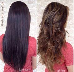 lightening dark hair