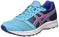 Asics Patriot 7 - Zapatillas de Running Para Mujer, Color Blanco (White/Vanilla Ice/Aqua Splash 0102), Talla 35.5