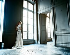 I don't know what I love more ,the dress, the flooring, the windows, the lighting, the double doors....