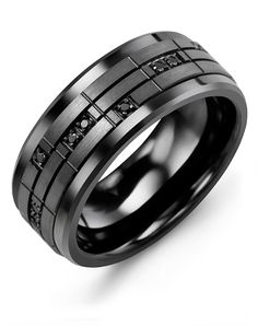 29 Best Men S Black Ceramic Wedding Rings 2018 Images Halo Rings