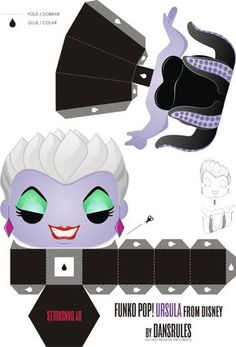 Ursula Disney by Dansrules by dansrules on deviantART - Printing - - Funko Pop! Ursula Disney by Dansrules by dansrules on deviantART Funko Pop! Ursula Disney by Dansrules by dansrules on deviantART - Ursula Disney, Disney Diy, Disney Crafts, Funko Pop, Disney Evil Queen, Disney Printables, Origami Paper Art, Toy Art, Paper Models
