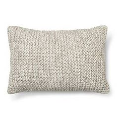 Chunky Knit Decorative Pillow Oblong Grey  - Threshold™ @target