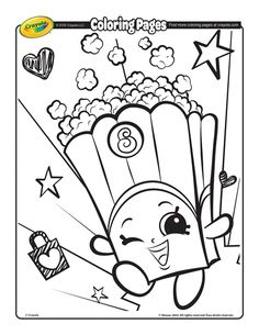 shopkins coloring page free coloring pageskids - Free Kids Colouring Pages