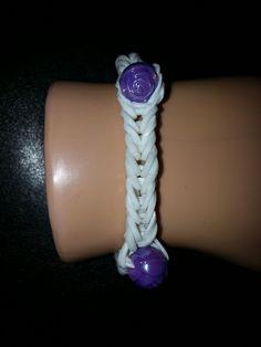Cute purple roses loom band brace-Free Shipping