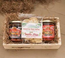 Michigan Chips & Salsa Gift Basket $29.99
