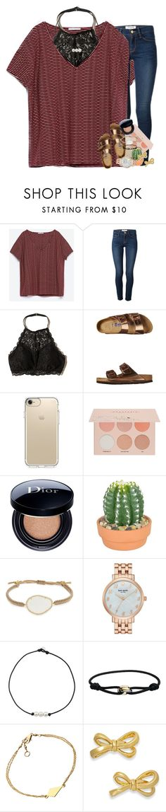 """northside coolin shawty yea that's where i stay"" by ellaswiftie13 on Polyvore featuring Zara, Frame, Hollister Co., Birkenstock, Speck, Guerriero, Christian Dior, The French Bee, Tai and Kate Spade"