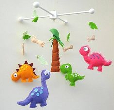 Dino Mobile - click forward for free patterns