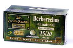 Berberechos de la ría al natural. Galicia Calidade.   http://tuaperitivo.com/27-conservas-del-mar