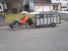 Winter-Proof Insulated Bicycle Camper Pulled With Trike Bike Cargo Trailer, Motorcycle Trailer, Cargo Bike, Bike Motor, Powered Bicycle, Cold Weather Camping, Hardtail Mountain Bike, Best Mountain Bikes, Mini Camper
