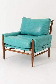 Rhys Chair #anthropologie #PinToWin This bright teal chair will bring out the teal in the duvet pattern while also being bright and fun.