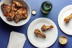 Asian-spiced sticky chicken drumettes
