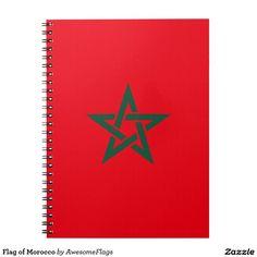 Flag Of Morocco Notebook Porte Cartes De VisiteCartes