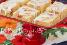 Iced Peanut Butter and Jelly Sheet Cake 2 text