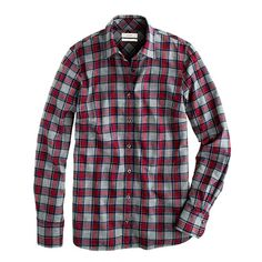 J.Crew boy shirt in grey tartan