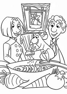 coloring page Ratatouille on Kids-n-Fun. Coloring pages of Ratatouille on Kids-n-Fun. More than coloring pages. At Kids-n-Fun you will always find the nicest coloring pages first! Cartoon Coloring Pages, Disney Coloring Pages, Coloring Book Pages, Coloring Sheets, Coloring Pages For Kids, Ratatouille Disney, Imprimibles Toy Story Gratis, Disney Thanksgiving, Thanksgiving Coloring Pages