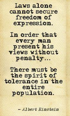 Spirit of Tolerance...