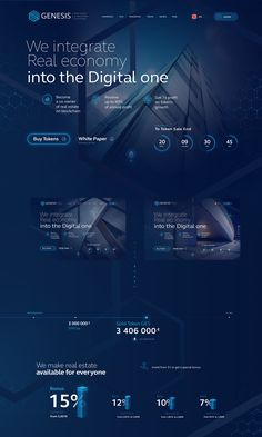 Genesis Token Sale - Genesis Token Sale on Behance - Website Layout, Web Layout, Layout Design, Logo Design, Website Ideas, App Ui Design, Design Design, Design Sites, Web Design Trends