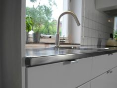 Stainless steel, Stainless steel countertops and Steel on Pinterest | {Edelstahl küchenarbeitsplatte 11}