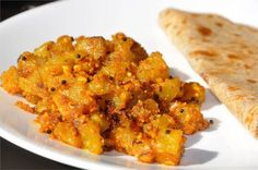 Mharo Rajasthan's Recipes - Rajasthan A State in Western India: Papeeta Aur Moongfali Ki Sookhi Sabzi - पपीता और मूंगफली की सूखी सब्जी (Raw Papaya with Peanuts Fry)