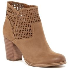 Aldo Superb Laser-Cut Bootie ($80) ❤ liked on Polyvore featuring shoes, boots, ankle booties, leather bootie, ankle boots, leather booties, leather boots and cutout ankle boots
