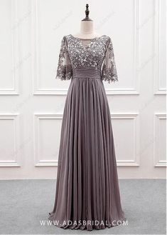 2ab071ef1ed3 [111.99] Wonderful Tulle & Chiffon Bateau Neckline A-line Mother Of The Bride  Dress With Sequin Lace Appliques