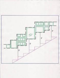 Design FormuLA: Making a Picture Wall Collage. Hanging pictures above stairs! Also, lots of other ideas! Collage Mural, Collage Frames, Organisation Des Photos, Organization, Organizing, Staircase Frames, Gallery Wall Staircase, Stairway Photo Gallery, Stairwell Wall