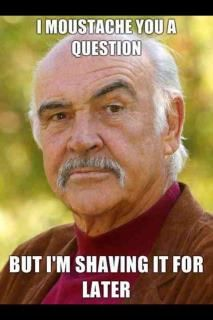 Number My dad looks like Sean Connery Number My dad's had a moustache for 40 years! Sean Connery Meme, Memes Celebridades, Kerr Smith, Funny Quotes, Funny Memes, Puns Hilarious, Freaking Hilarious, Qoutes, Life Quotes