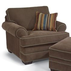 Shop for the Flexsteel Lehigh Upholstered Chair at Belfort Furniture - Your Washington DC, Northern Virginia, Maryland and Fairfax VA Furniture & Mattress Store Fabric Ottoman, Chair Fabric, Chair And Ottoman, Upholstered Chairs, Modern Bedroom Furniture, Living Furniture, Living Room Chairs, Home Furniture, Lounge Chairs