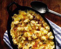 Cauliflower/Green Olive Gratin