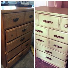 Wendy's daughter's dresser before and after