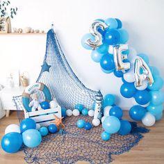 6th Birthday Parties, Birthday Diy, Birthday Party Decorations, Sailor Baby Showers, Deco Ballon, Octonauts Party, Baby Shower Balloons, First Birthdays, Mary Cassatt