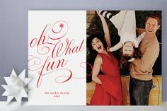 Ton of Fun Christmas Photo Cards by Carrie ONeal at minted.com
