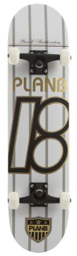 """my first Plan B - United White Skateboard Complete 7.75"""" (but in black)"""