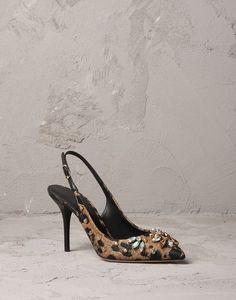 LEOPARD PRINT RAFFIA BELLUCCI K SLINGBACK | Dolce&Gabbana Online Store