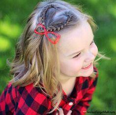 Valentine's hair. Lace Dutch Braided heart