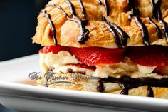 The Kitchen Whisperer Croissant Love – Ganache, Vanilla Bean Pastry Cream and Fresh Berries Lunch Catering, Fancy Schmancy, Tart Recipes, Chocolate Ganache, Croissant, Berries, Vanilla, Pie, Fresh