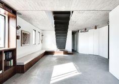 Toledano Architects inserts steel staircase into Tel Aviv penthouse