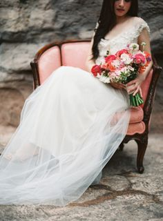 Dreamy gown: http://www.stylemepretty.com/little-black-book-blog/2015/03/26/colorful-spring-botanical-gardens-wedding-inspiration/ | Photography: Lauren Gabrielle - http://laurengabrielle.com/
