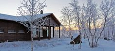 Luontokeskus marraskuussa Kilpisjärvi