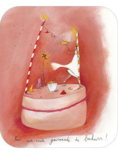 """Anne-Sophie Rutsaert postcard """"Pour une année gourmande..."""""""