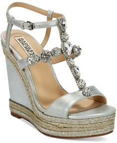 Badgley Mischka Coco Evening Wedge Sandals