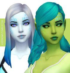 Alien Eyes #1• 2 Versions: Black Sclera & White Sclera • 9 Colors each • 3 Options: Default, Non Default & Facepaint • All Genders • Toddler to Elder • Default & Non Default options are for aliens...