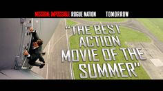 Mission: Impossible Rogue Nation - Tomorrow Mission Impossible Rogue, Ethan Hunt, Rogue Nation, Best Action Movies, Tom Cruise, Hero, Youtube, Youtubers, Youtube Movies