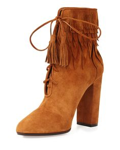 Adore these suede fringe boots for fall