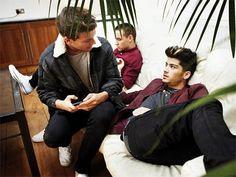 Zayn, Louis, and Liam