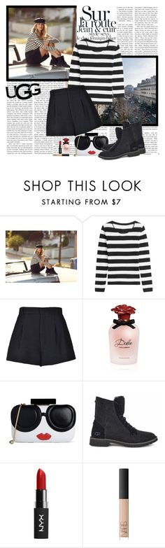 """""""The New Classics With UGG: Contest Entry"""" by polybaby ❤ liked on Polyvore featuring UGG, 81hours, RED Valentino, Dolce&Gabbana, Alice + Olivia, NARS Cosmetics and ugg"""