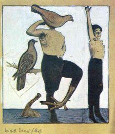 Schweiz, Geburtsort von Dada, collage von Max Ernst (1891-1976, Germany)