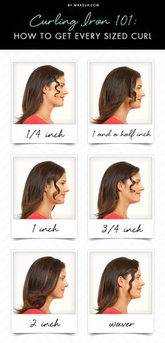 If you've tried curling your hair and the curls don't turn out the way you want, it might be the type of iron you're using. Here is a guide for how to get every size curl and which curling iron you need!